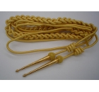 Army Gold Aiguillette Full in Mylar and Wire with Trophy Tag