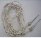 Silver Aiguillette Full in Mylar & Wire with Trophy Tag