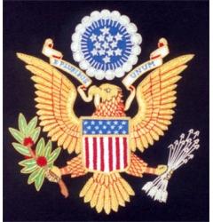 USA Embroidered Blazer Badge