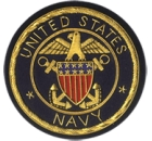 USA Navy Embroidered Blazer Badge