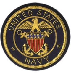 USA Navy Embroidered Blazer Badge