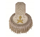 Epaulette Silver with Hand Embroidered Logo