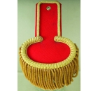 Epaulette Red / Gold Fringe