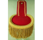Epaulettes Red / Yellow Fringe