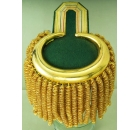 Epaulette Green / Yellow with Golden Metal Tag