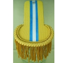 Epaulette Gold with Blue/White Stripe