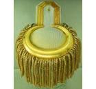 Epaulette Metal Tag with Gold Fringe