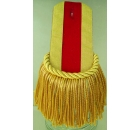 Epaulette Red Stripe with Gold
