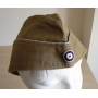 Tropical Officers Side Cap in Brown/Tan Cotton