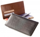 Leather Check Book Wallet