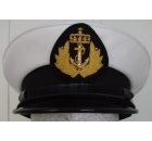 White Uniform Peak Cap for Navy with Plain Visor