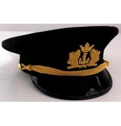 Black Peaked Cap