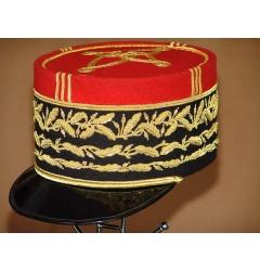 Golden Embroidered Mini Peak Cap