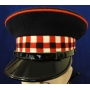Red, White and Black Diced Bank Peaked Cap