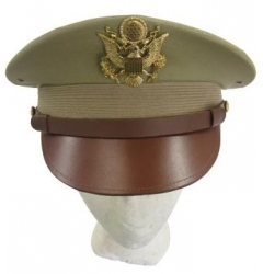 US Army Officers Service Cap - Khaki