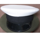 White Peaked Cap with Black Peak