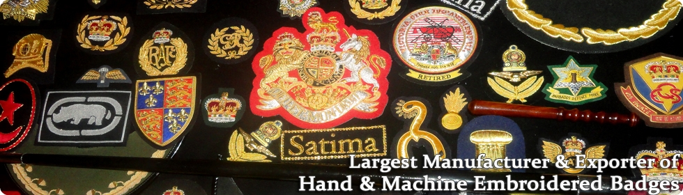 Hand & Machine Embroidered Badges